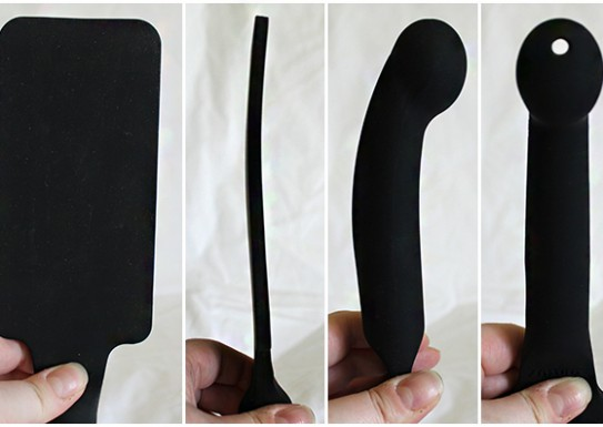 Plunge-Paddle-front-and-side-of-both-paddle-and-dildo